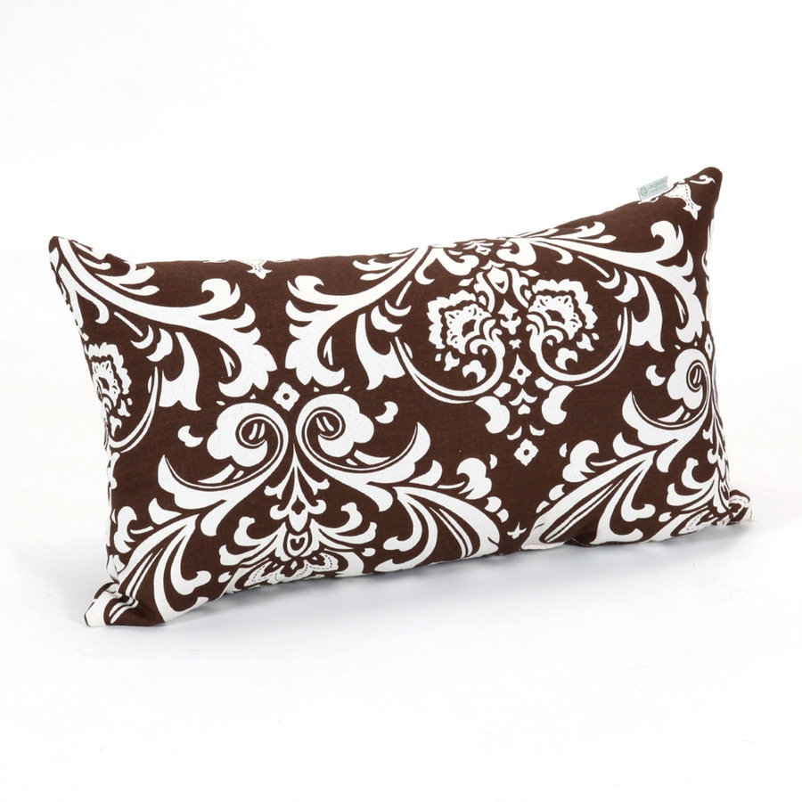 Majestic Home Goods 12-in W x 20-in L Chocolate Rectangular Indoor Decorative Complete Pillow
