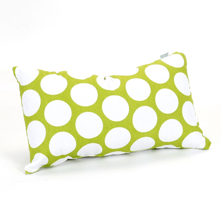 Majestic Home Goods 12-in W x 20-in L Hot Green Indoor Decorative Pillow