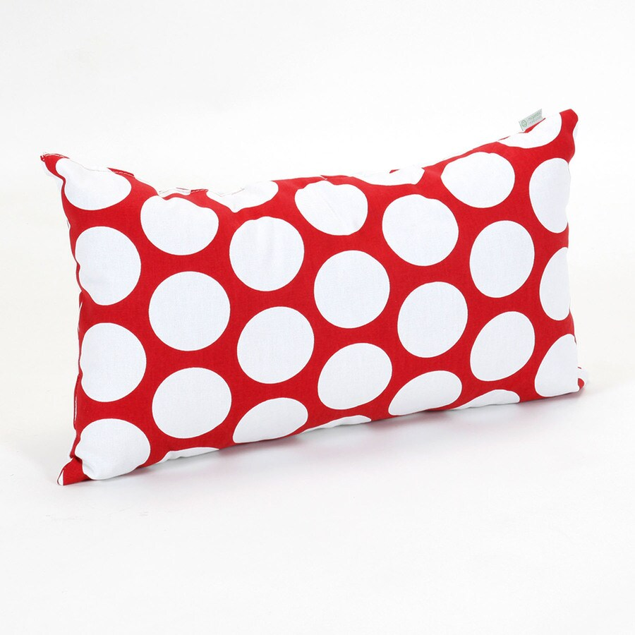 Majestic Home Goods 12-in W x 20-in L Red Hot Rectangular Indoor Decorative Complete Pillow