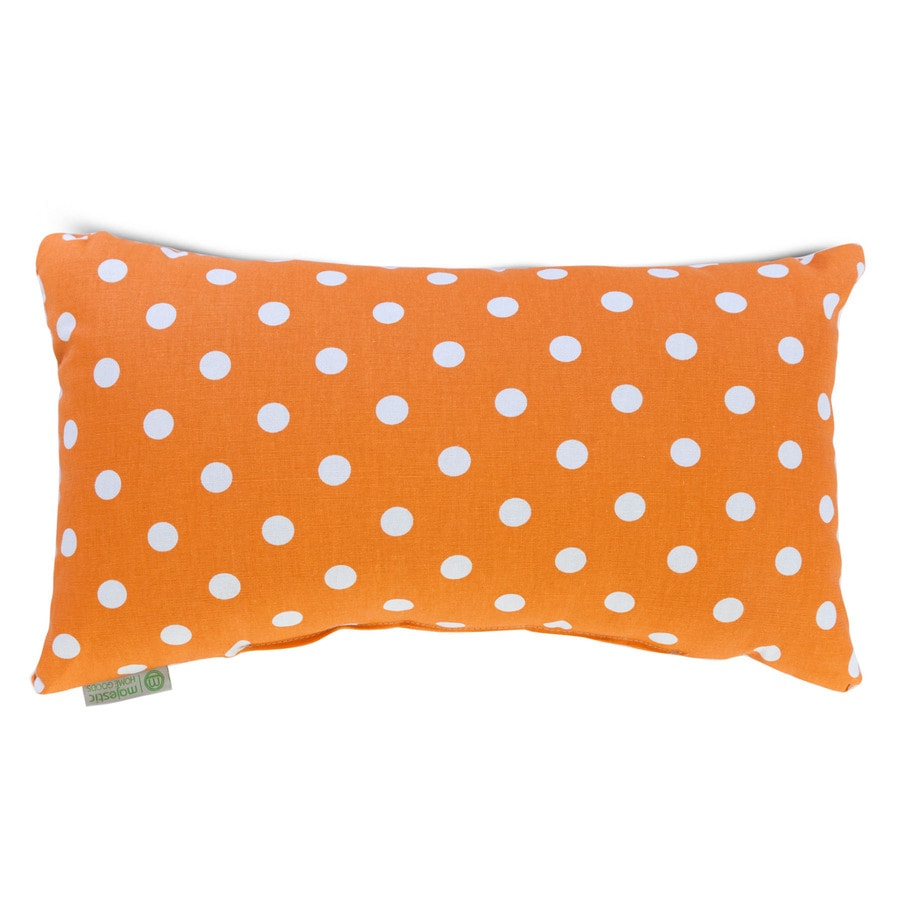 Majestic Home Goods 12-in W x 20-in L Tangerine Indoor Decorative Pillow
