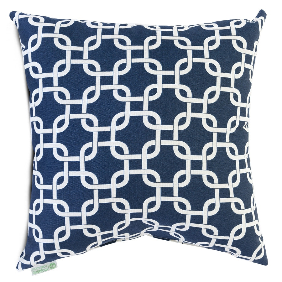 Home goods decorative pillow - Majestic Home Goods 20 In W X 20 In L Navy Blue Indoor Decorative