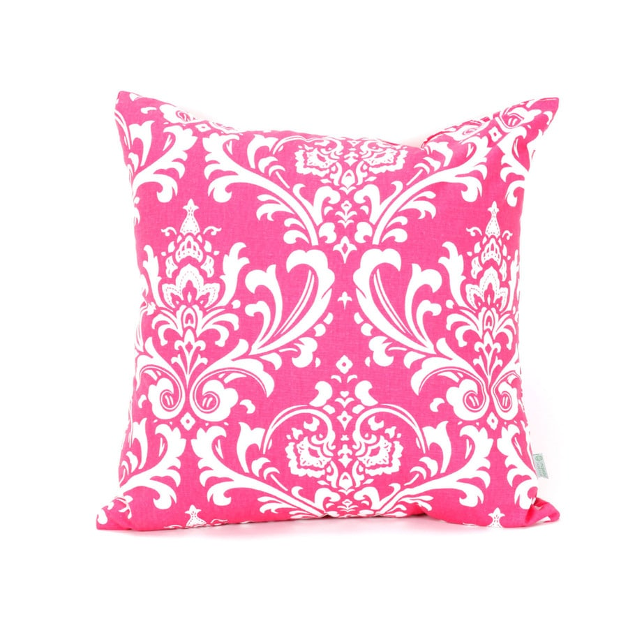 Majestic Home Goods 20-in W x 20-in L Hot Pink Square Indoor Decorative Complete Pillow