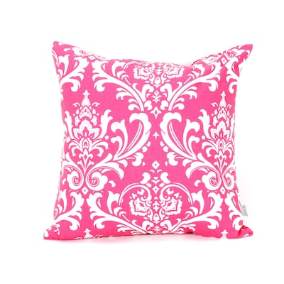 20 In W X 20 In L Hot Pink Indoor Decorative Pillow