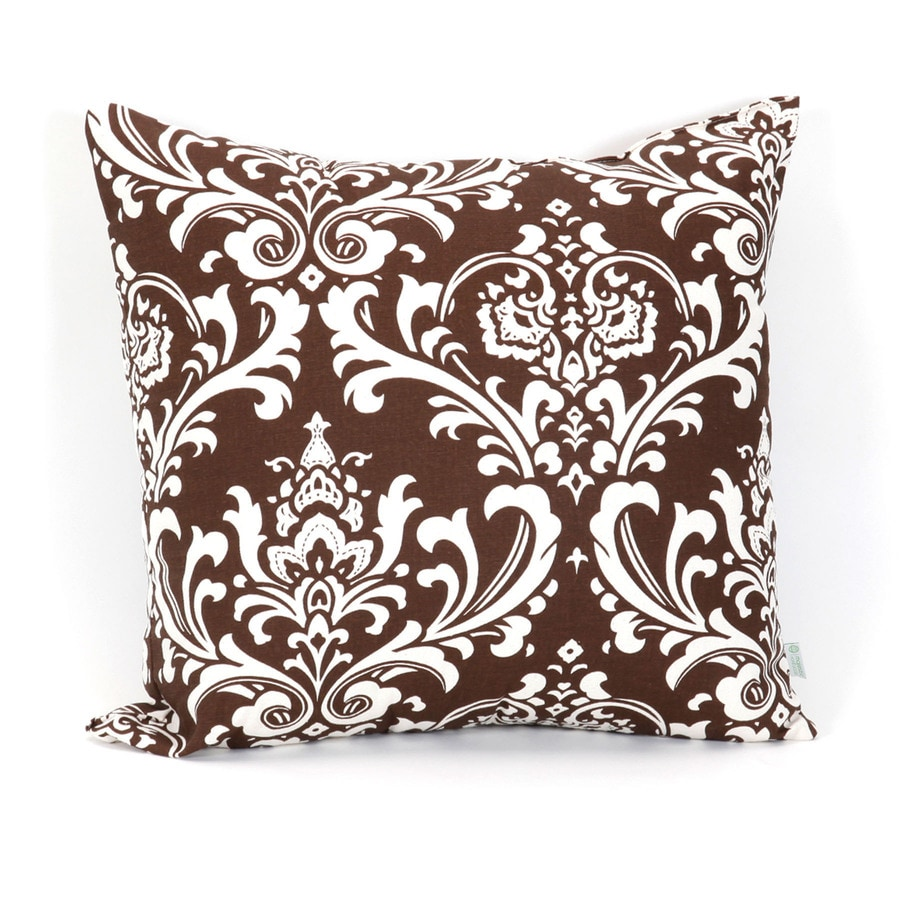 Majestic Home Goods 20-in W x 20-in L Chocolate Square Indoor Decorative Complete Pillow