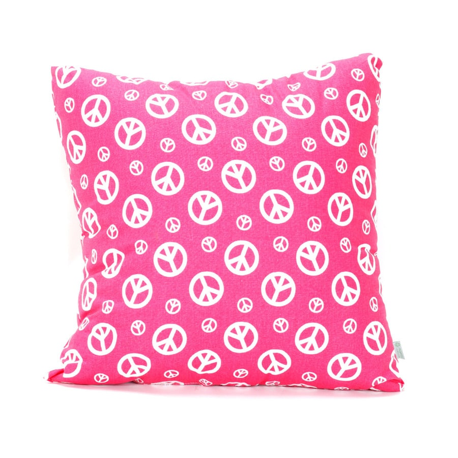 Majestic Home Goods 20-in W x 20-in L Hot Pink Indoor Decorative Pillow