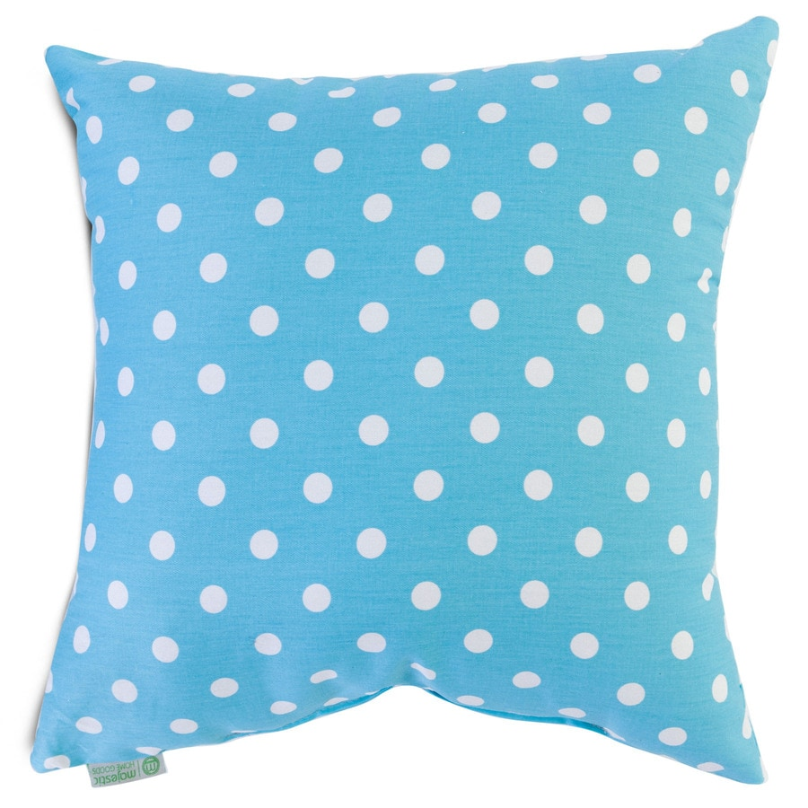Homegoods Decorative Pillow : Shop Majestic Home Goods 20-in W x 20-in L Aquamarine Square Indoor Decorative Complete Pillow ...