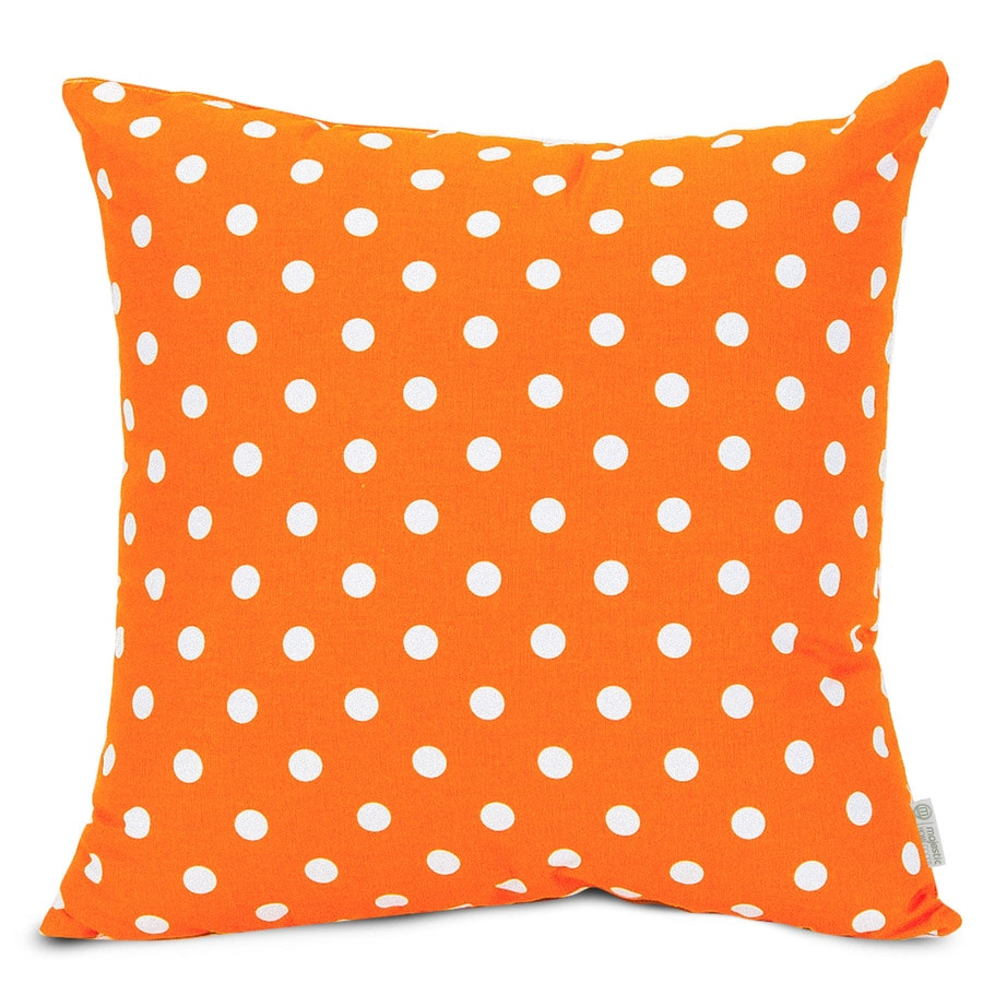 Majestic Home Goods 20-in W x 20-in L Tangerine Square Indoor Decorative Complete Pillow