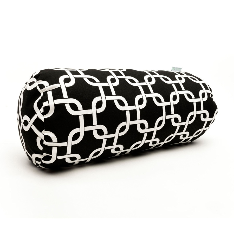 Majestic Home Goods 8-in W x 18.5-in L Black Oblong Indoor Decorative Pillow