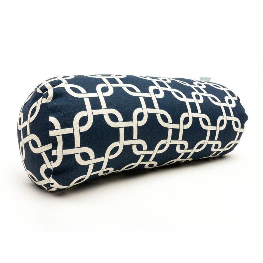 Majestic Home Goods 8-in W x 18.5-in L Navy Blue Oblong Indoor Decorative Pillow