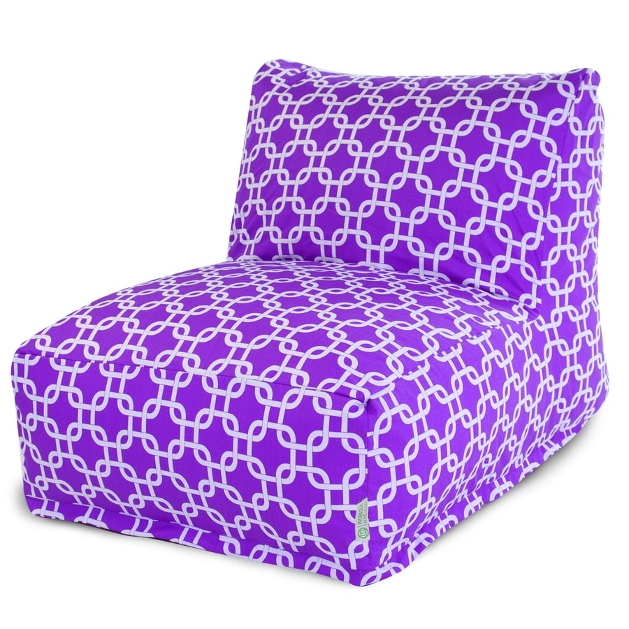 Shop Majestic Home Goods Purple Bean Bag Chair At Lowes Com