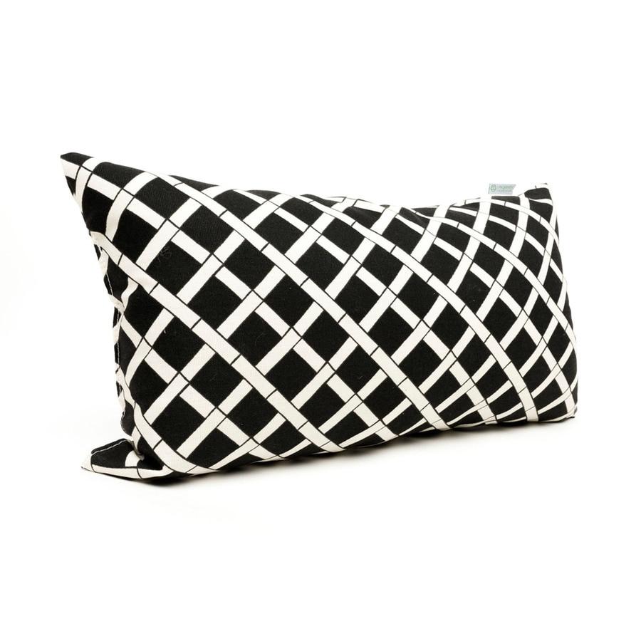 Majestic Home Goods Black Bamboo Geometric Rectangular Outdoor Decorative Pillow