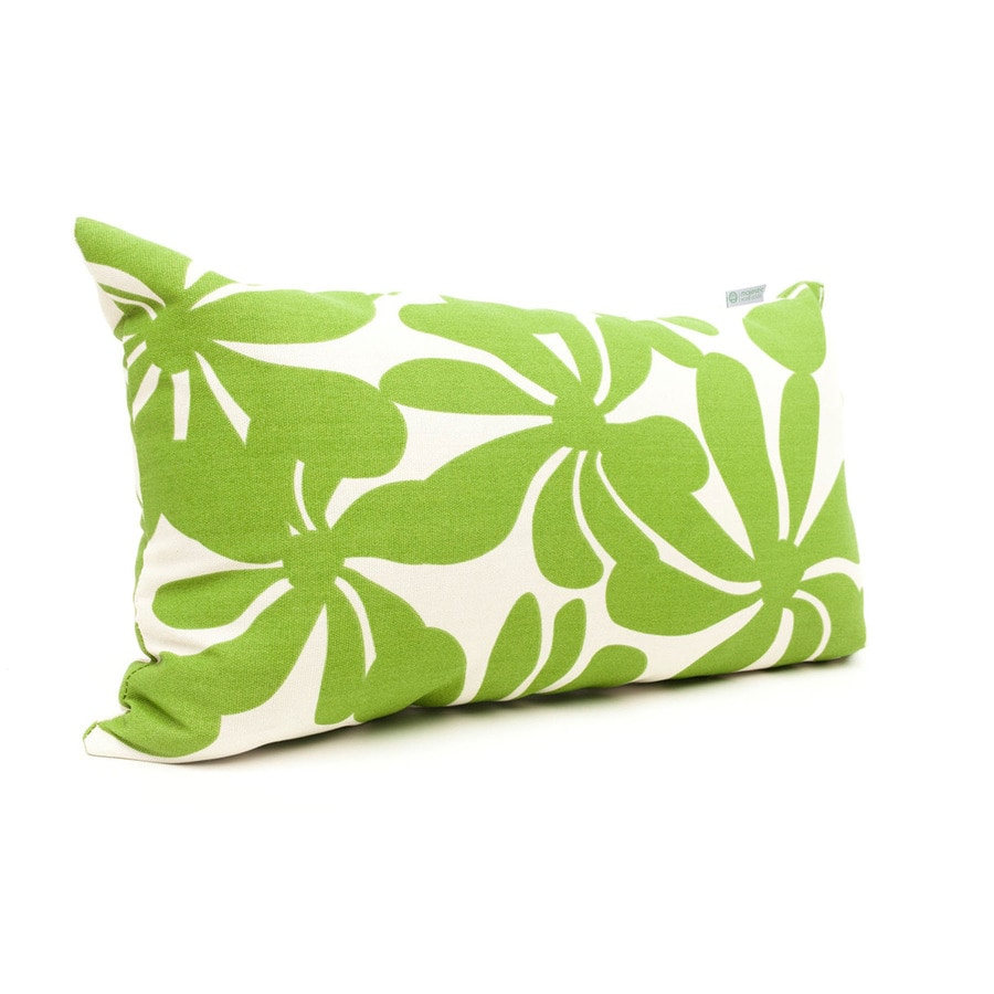 Shop Majestic Home Goods Sage Plantation Floral Rectangular Outdoor Decorative Pillow at Lowes.com