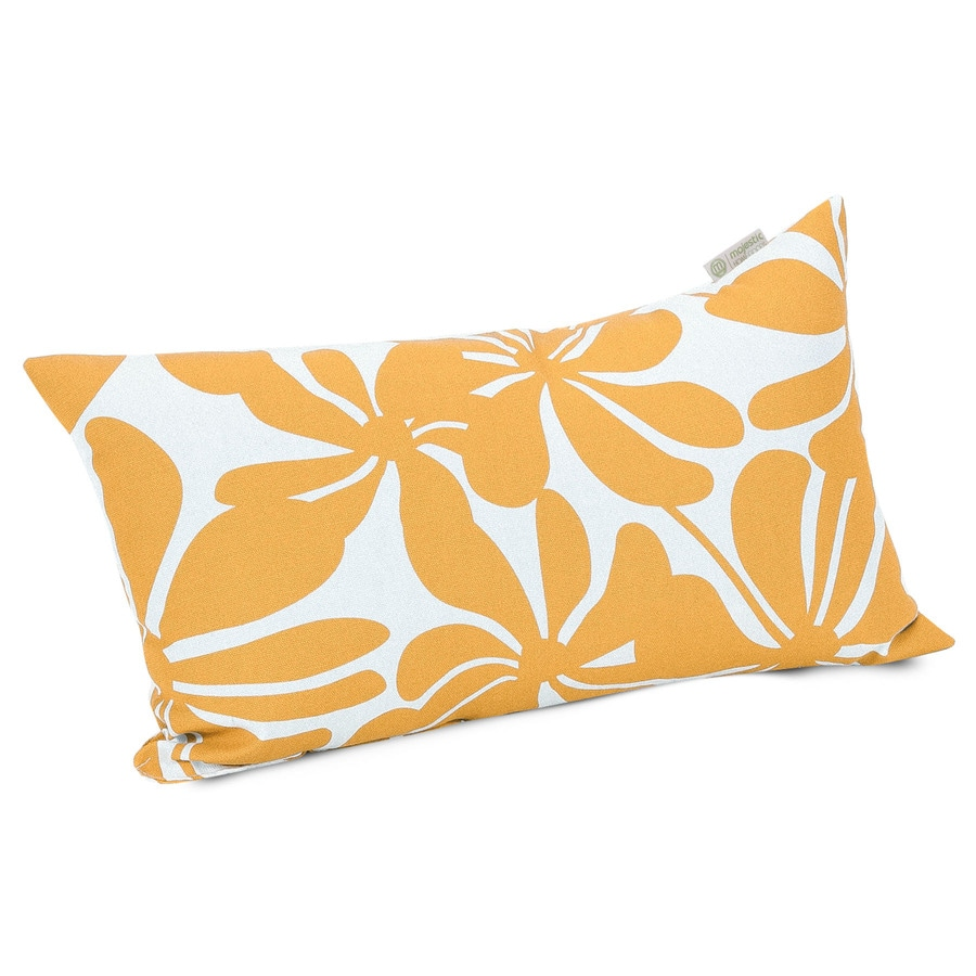 Shop Majestic Home Goods Yellow Plantation Floral Rectangular Outdoor Decorative Pillow at Lowes.com