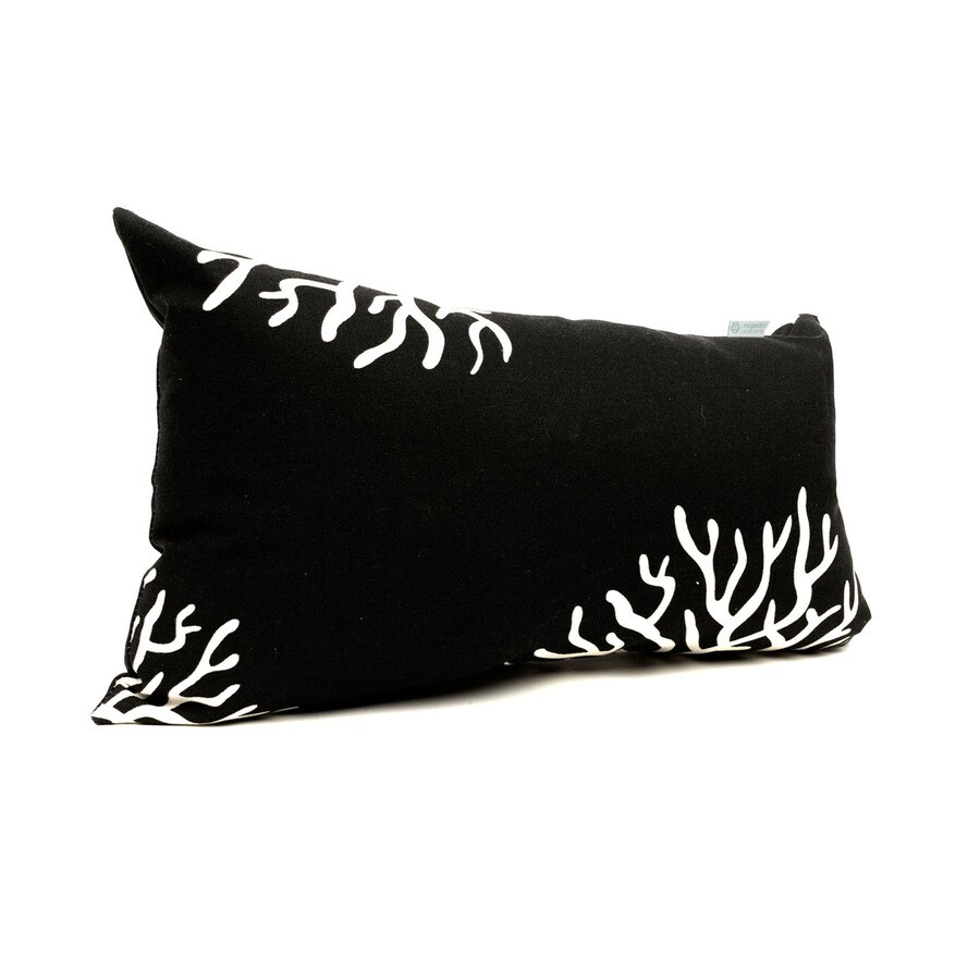 Majestic Home Goods Black Coral Tropical Rectangular Outdoor Decorative Pillow