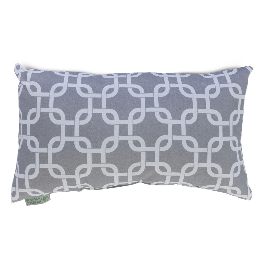 Home goods decorative pillow - Majestic Home Goods Gray Links Geometric Rectangular Outdoor Decorative Pillow