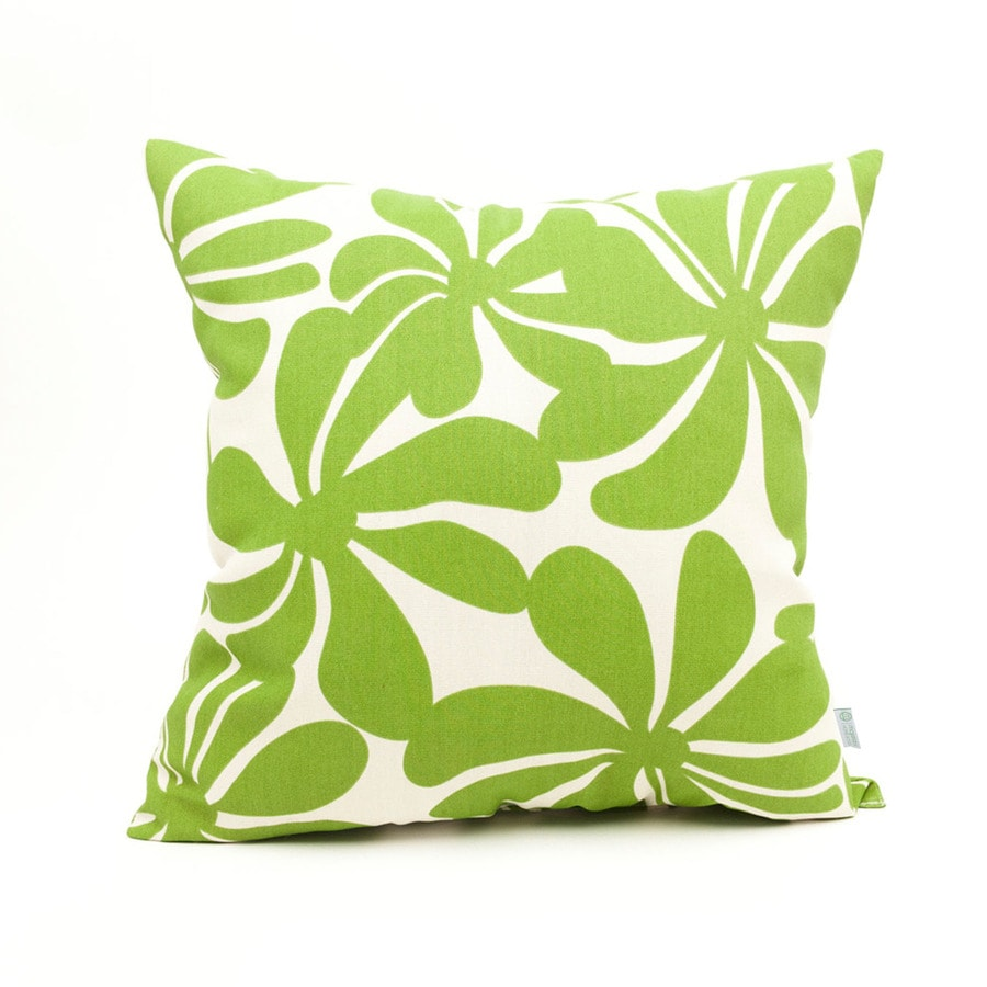 Shop Majestic Home Goods Sage Plantation Floral Square Outdoor Decorative Pillow at Lowes.com