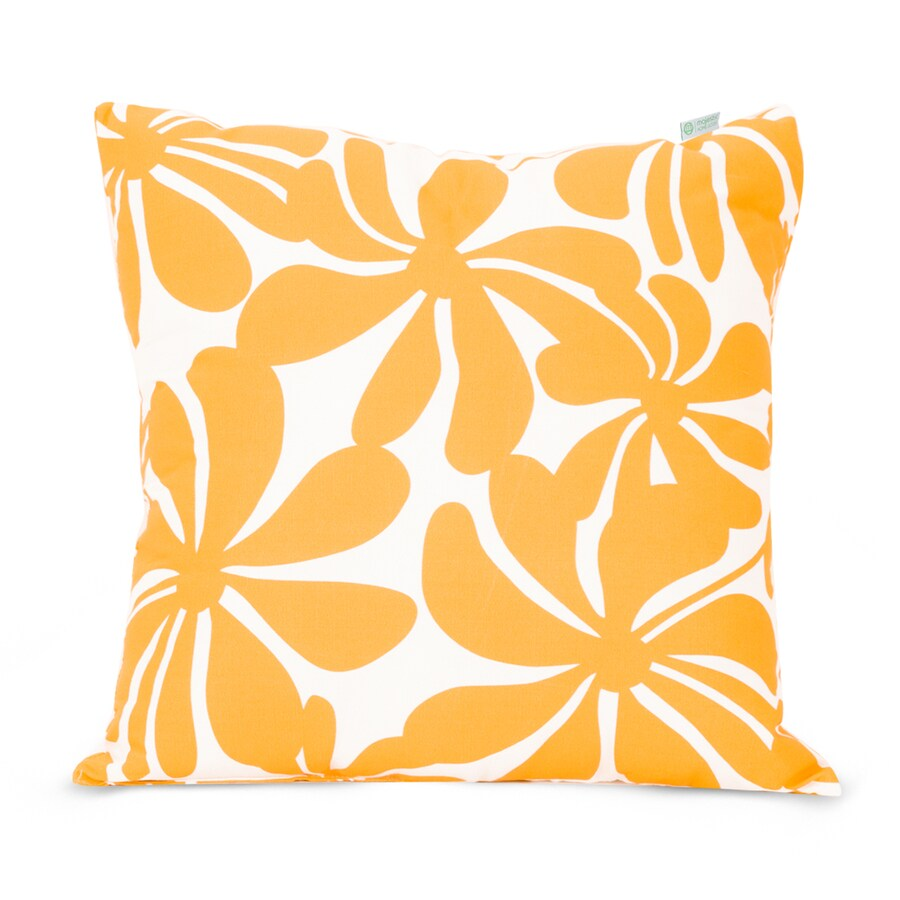 Shop Majestic Home Goods Yellow Plantation Floral Square Outdoor Decorative Pillow at Lowes.com