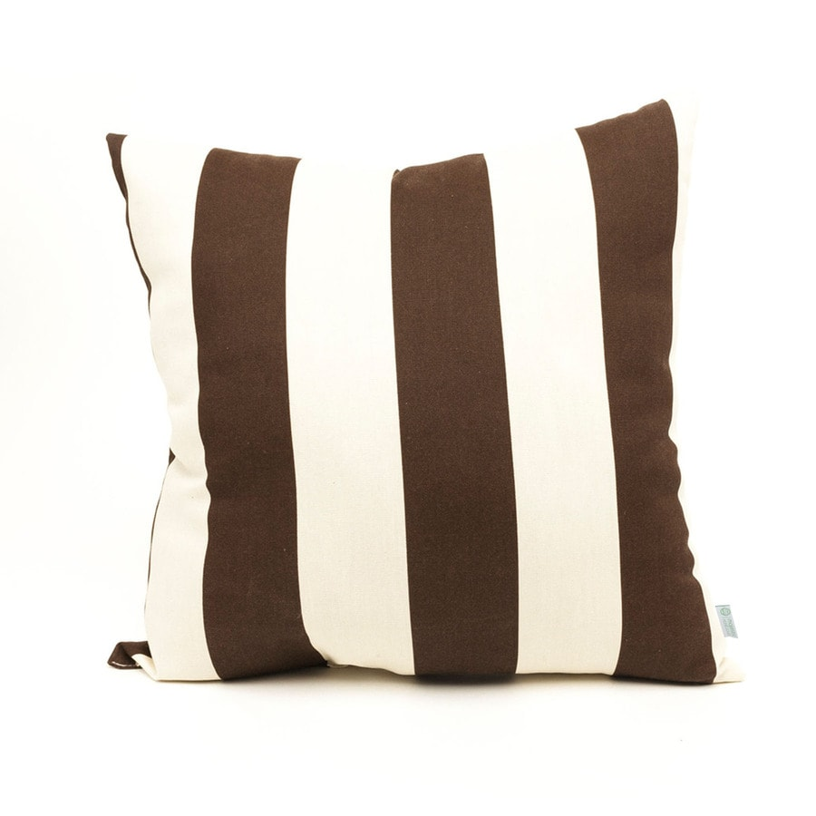 Homegoods Decorative Pillows : Shop Majestic Home Goods Chocolate Vertical Stripe Square Outdoor Decorative Pillow at Lowes.com