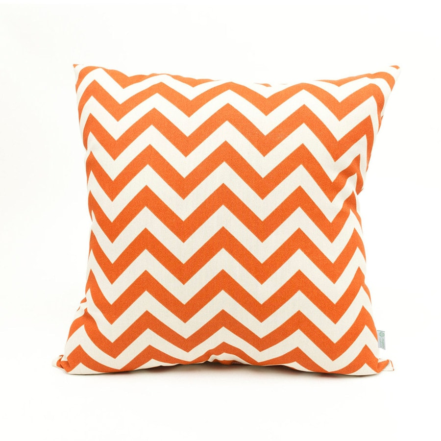 Shop Majestic Home Goods Burnt Orange Chevron Square Outdoor Decorative Pillow at Lowes.com