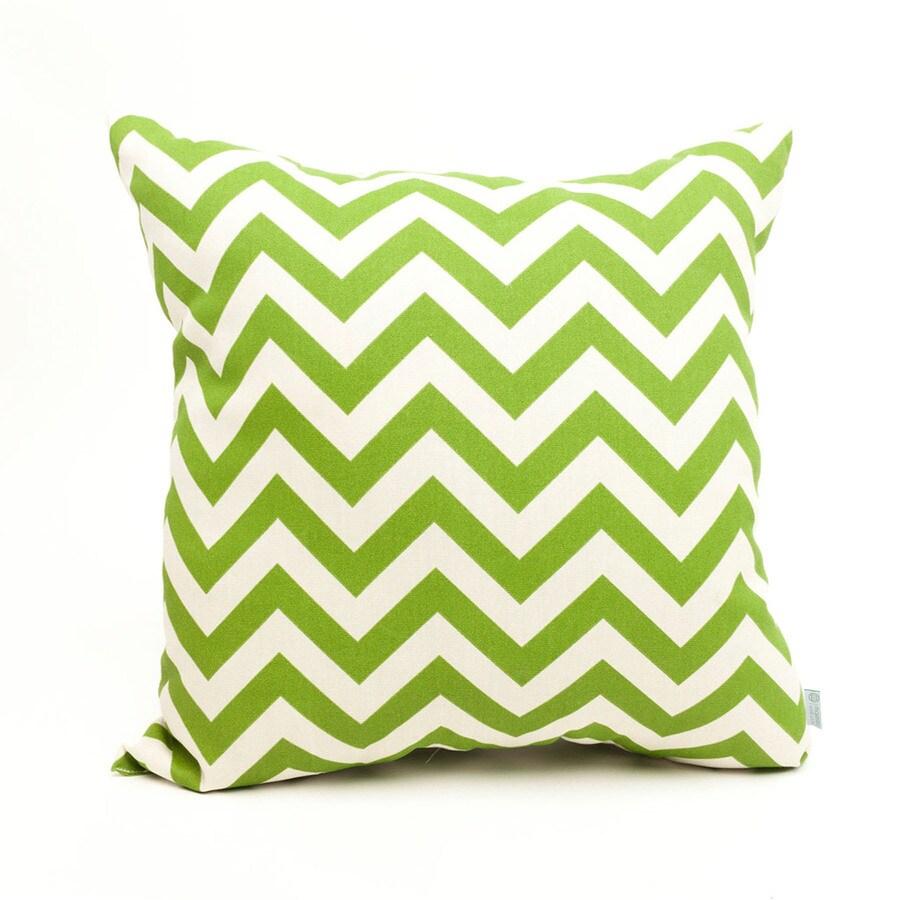 Majestic Home Goods Sage Chevron Square Outdoor Decorative Pillow