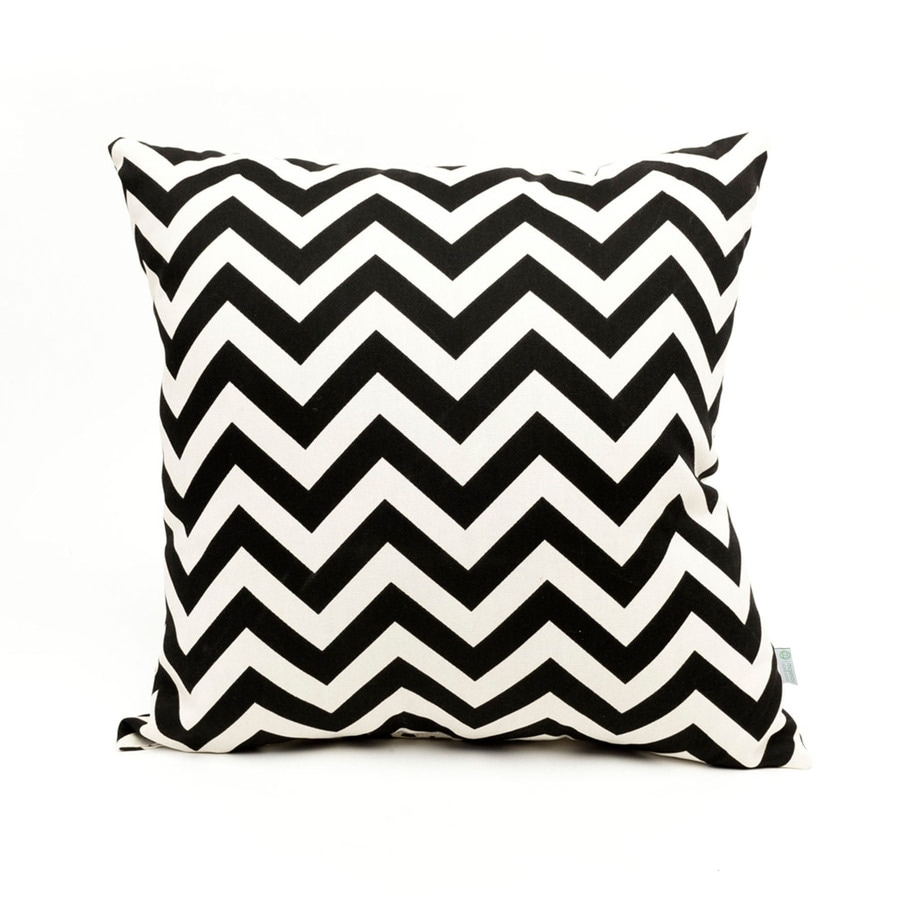 Throw Pillows Home Goods : Shop Majestic Home Goods Black Chevron Square Outdoor Decorative Pillow at Lowes.com