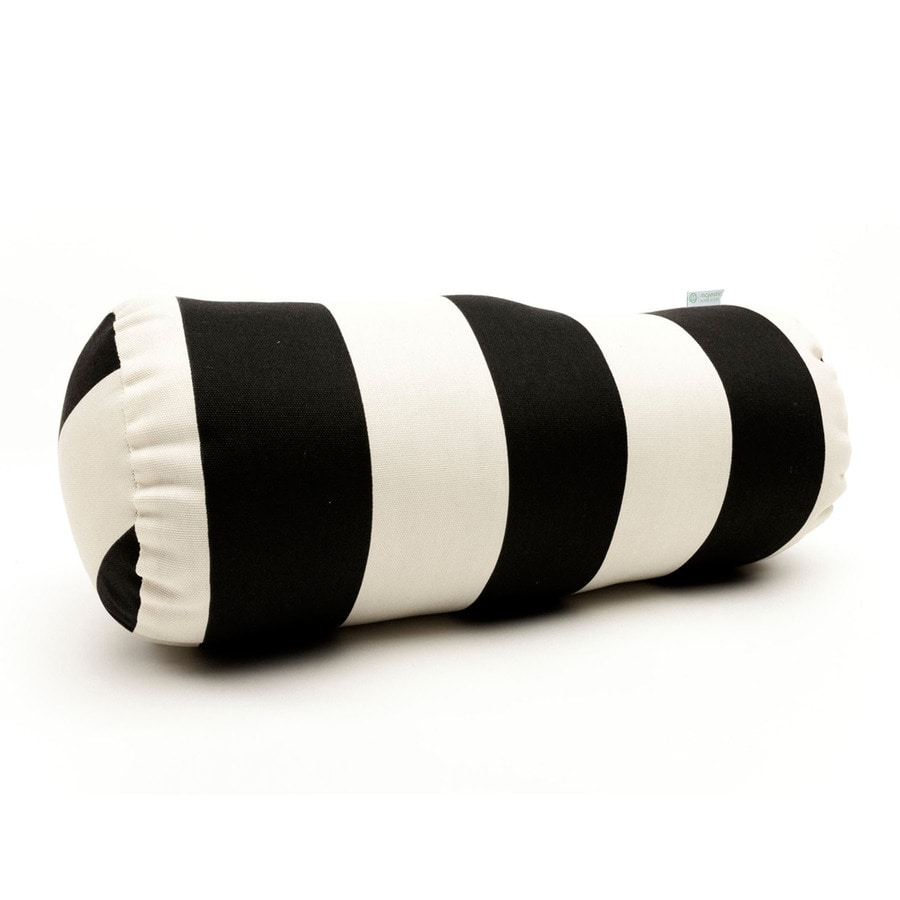 Round Decorative Pillows Shop Majestic Home Goods Black Vertical Stripe Bolster Outdoor