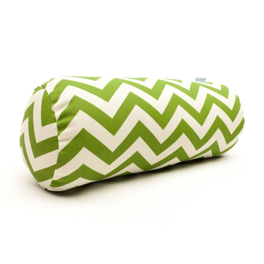 Majestic Home Goods Sage Chevron Bolster Outdoor Decorative Pillow