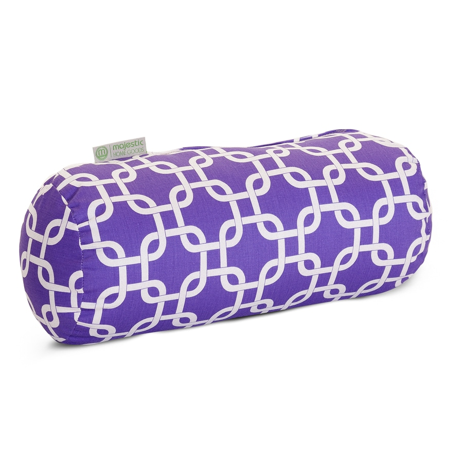 Majestic Home Goods 8-in W x 18.5-in L Purple Oblong Indoor Decorative Pillow