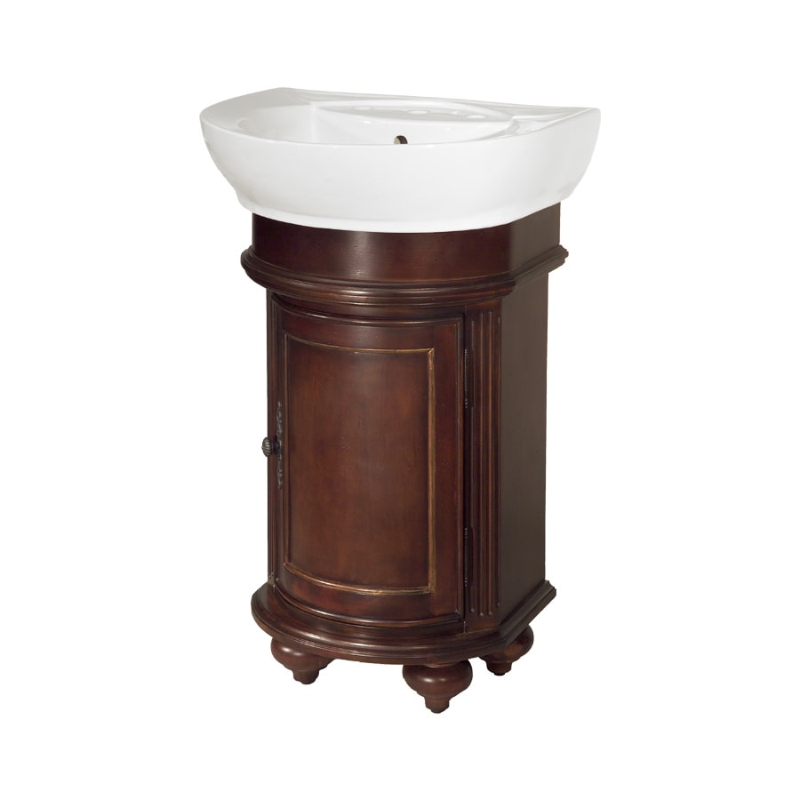Westport Bay Keeneland Mahogany in Cherry Vintage 1005V (Common: 19-in x 24-in) Self-Rimming Single Sink Bathroom Vanity with Wood Top (Actual: 19-in x 22-in)