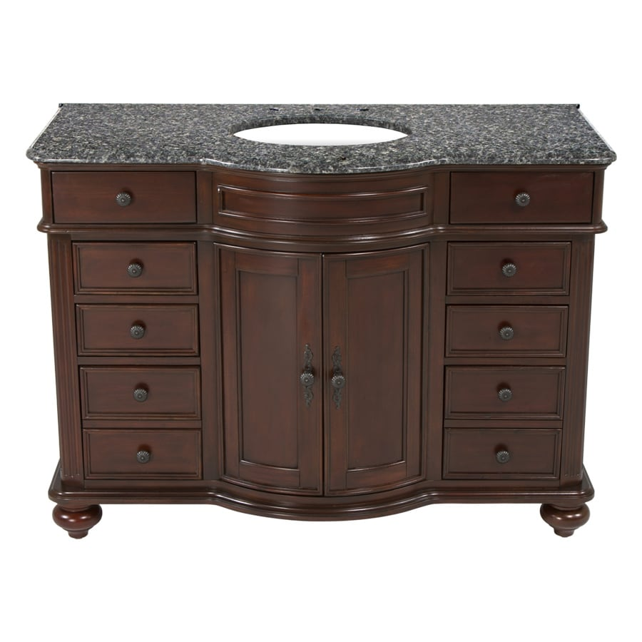 Westport Bay Keeneland Undermount Single Sink Bathroom Vanity with Granite Top (Common: 49-in x 24-in; Actual: 49-in x 26-in)