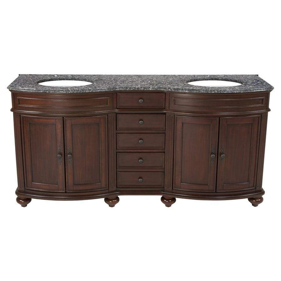 Westport Bay Keeneland Undermount Double Sink Bathroom Vanity with Granite Top (Common: 73-in x 24-in; Actual: 73-in x 26-in)