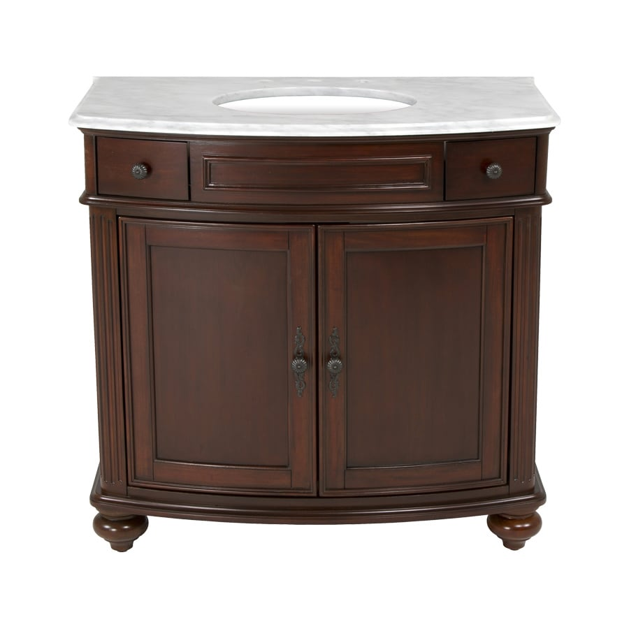 Westport Bay Keeneland Undermount Single Sink Bathroom Vanity with Natural Marble Top (Common: 37-in x 24-in; Actual: 37-in x 26-in)