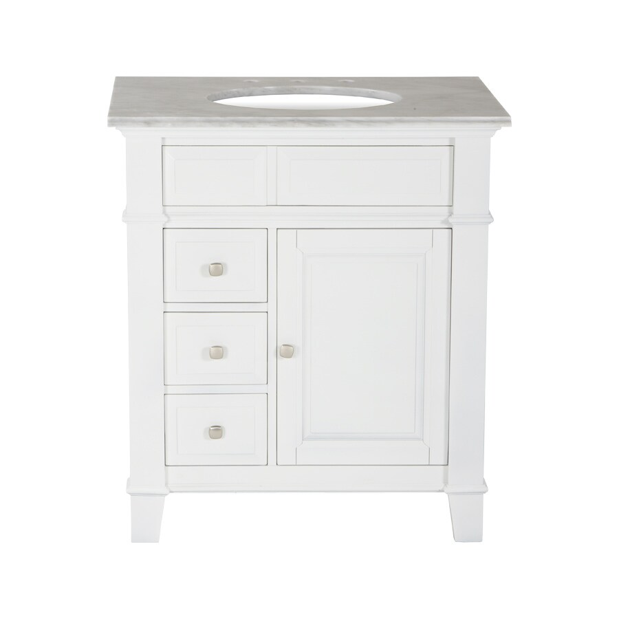 Westport Bay Martinsburg Undermount Single Sink Bathroom Vanity with Granite Top (Common: 31-in x 22-in; Actual: 31-in x 22-in)