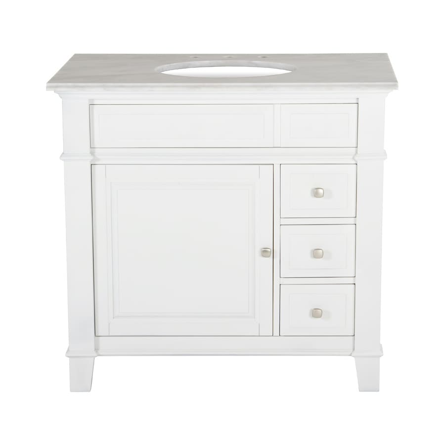 Westport Bay Martinsburg Undermount Single Sink Bathroom Vanity with Granite Top (Common: 37-in x 22-in; Actual: 37-in x 22-in)