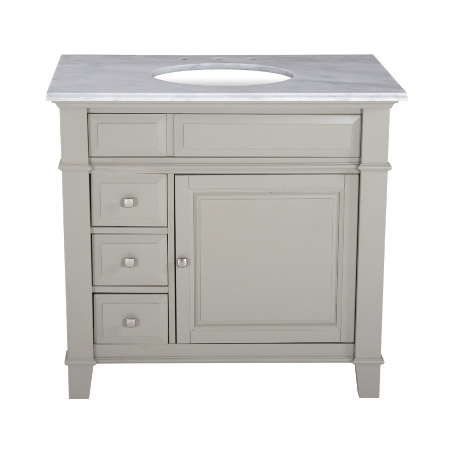 Westport Bay Martinsburg Undermount Single Sink Bathroom Vanity with Natural Marble Top (Common: 37-in x 22-in; Actual: 37-in x 22-in)