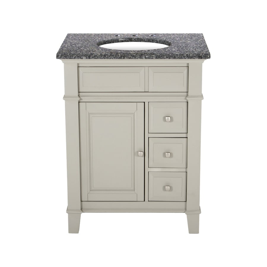 Westport Bay Martinsburg Undermount Single Sink Bathroom Vanity with Granite Top (Common: 25-in x 22-in; Actual: 25-in x 22-in)