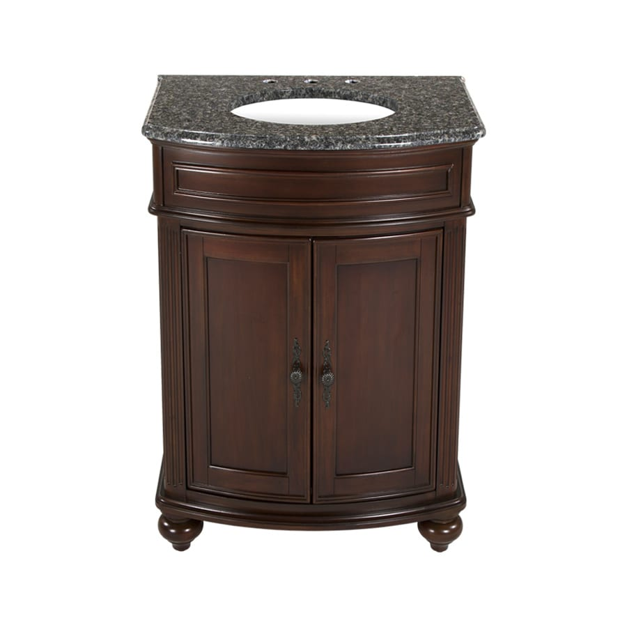Westport Bay Keeneland Undermount Single Sink Bathroom Vanity with Granite Top (Common: 25-in x 22-in; Actual: 25-in x 22-in)