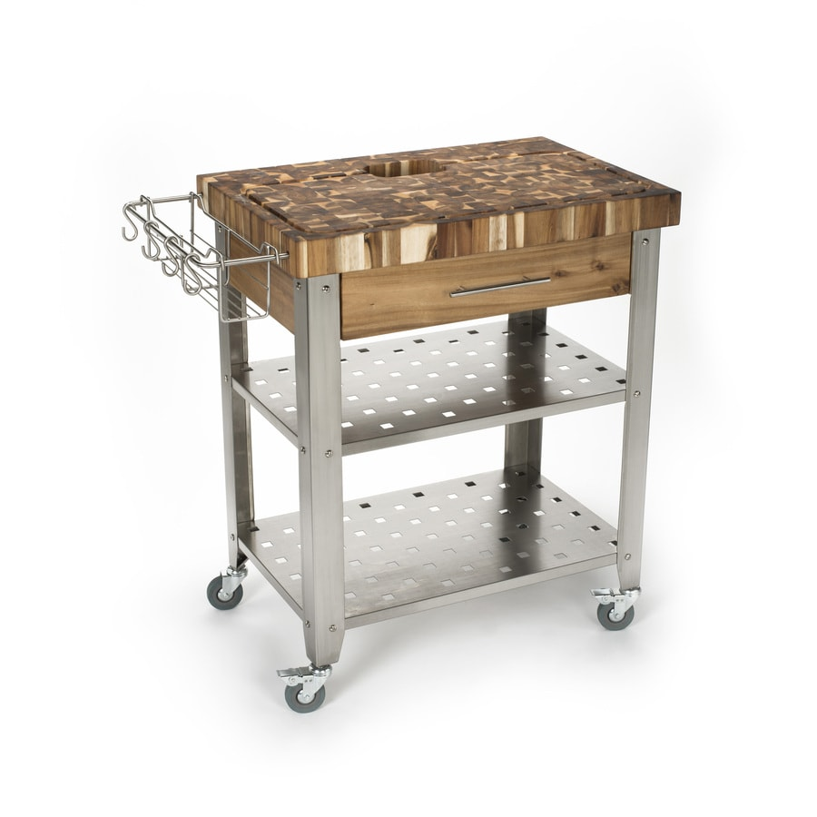 Shop chris chris 30 in l x 20 in w x 36 in h natural 30 kitchen island
