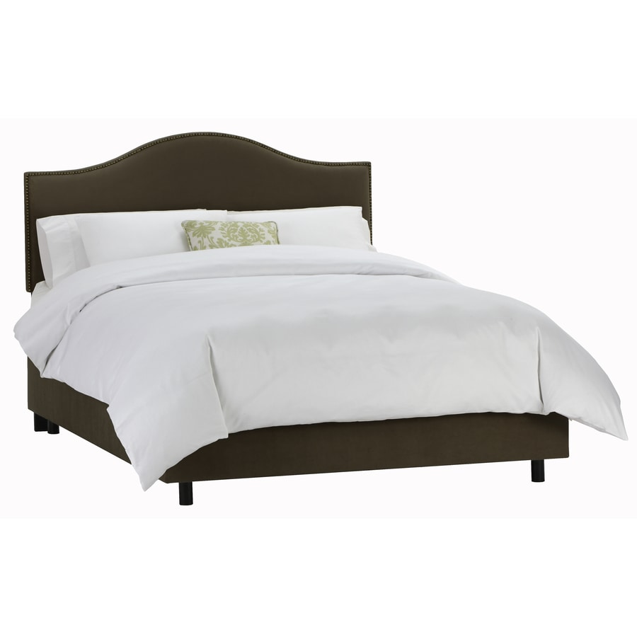 Skyline Furniture Armitage Chocolate Queen Upholstered Bed