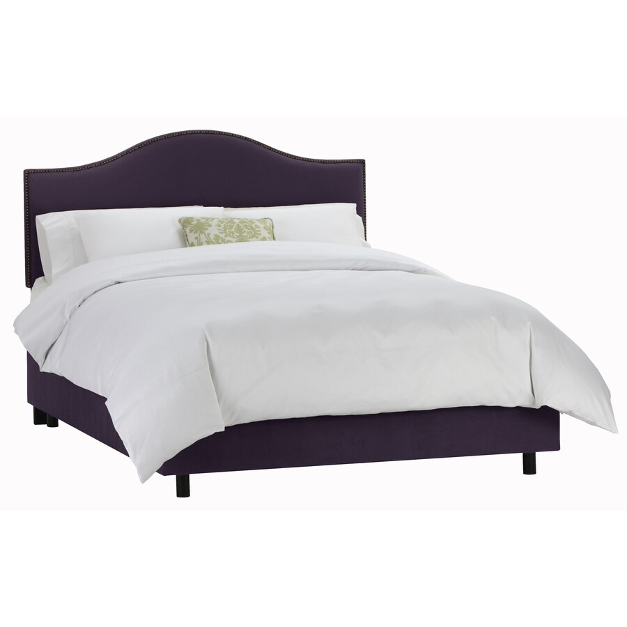 Skyline Furniture Armitage Aubergine Queen Upholstered Bed