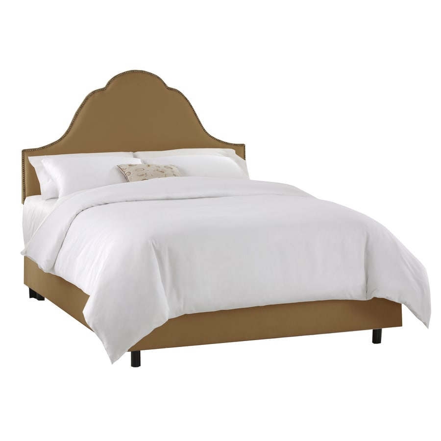 Skyline Furniture Clybourn Khaki Queen Upholstered Bed