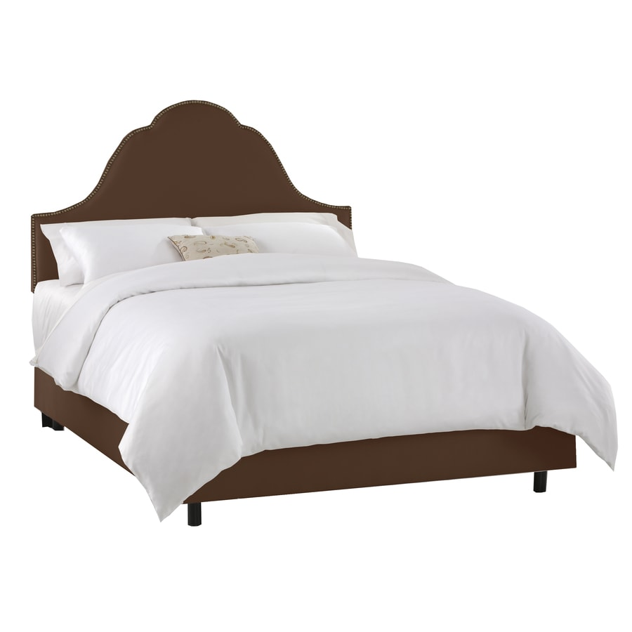 Skyline Furniture Clybourn Chocolate King Upholstered Bed