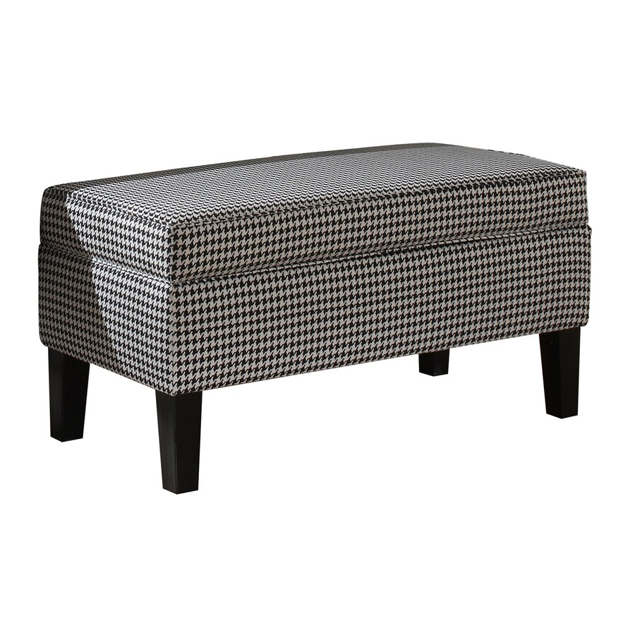 Skyline Furniture Diversey Transitional Black/White Accent Bench