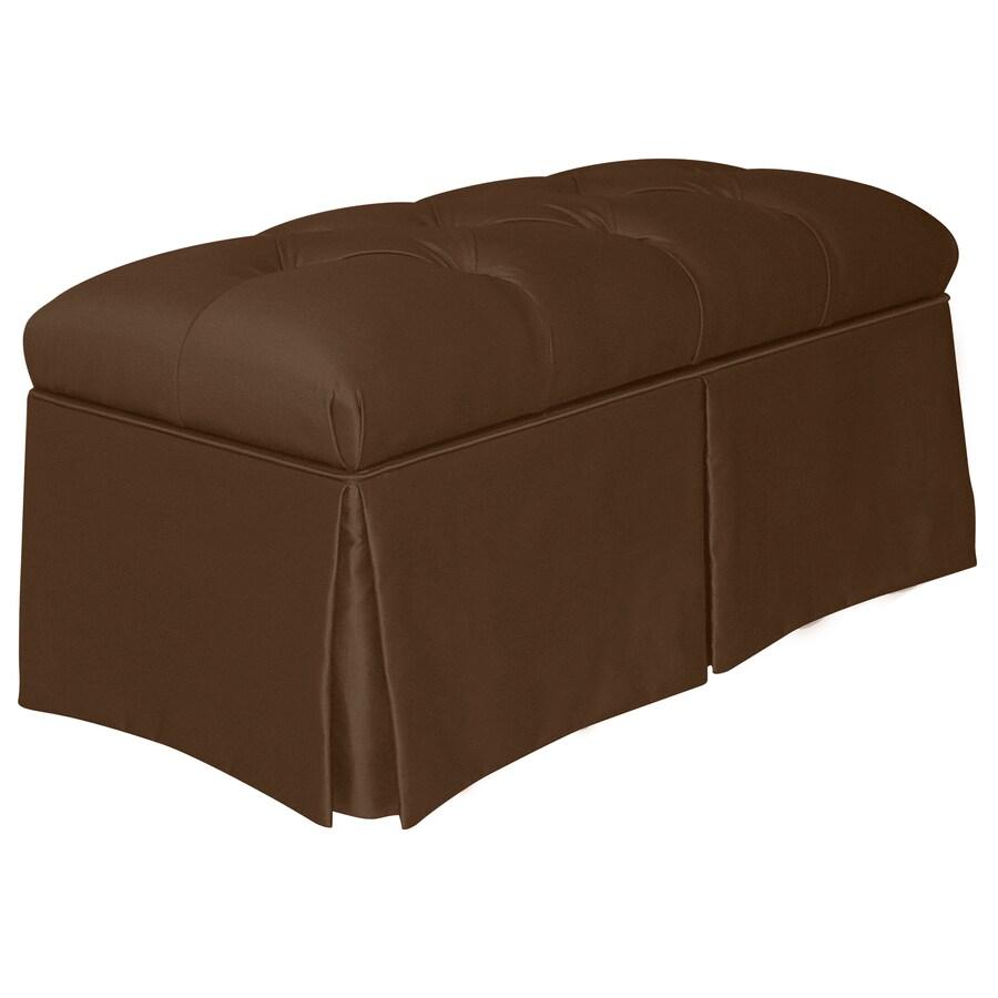 Skyline Furniture Quincy Chocolate Indoor Accent Bench