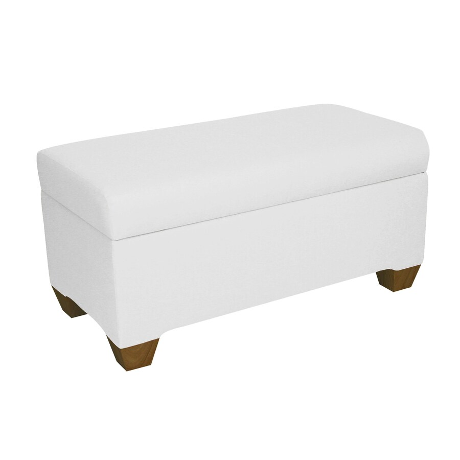 Skyline Furniture Halstead White Indoor Accent Bench with Storage