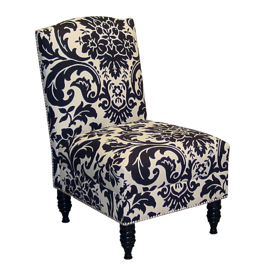 Great Skyline Furniture Granville Collection Black/White Linen Accent Chair