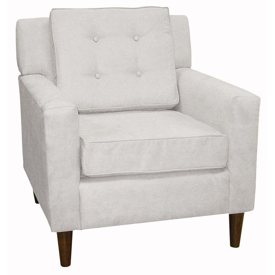 Skyline Furniture Sheridan Collection White Polyester Accent Chair