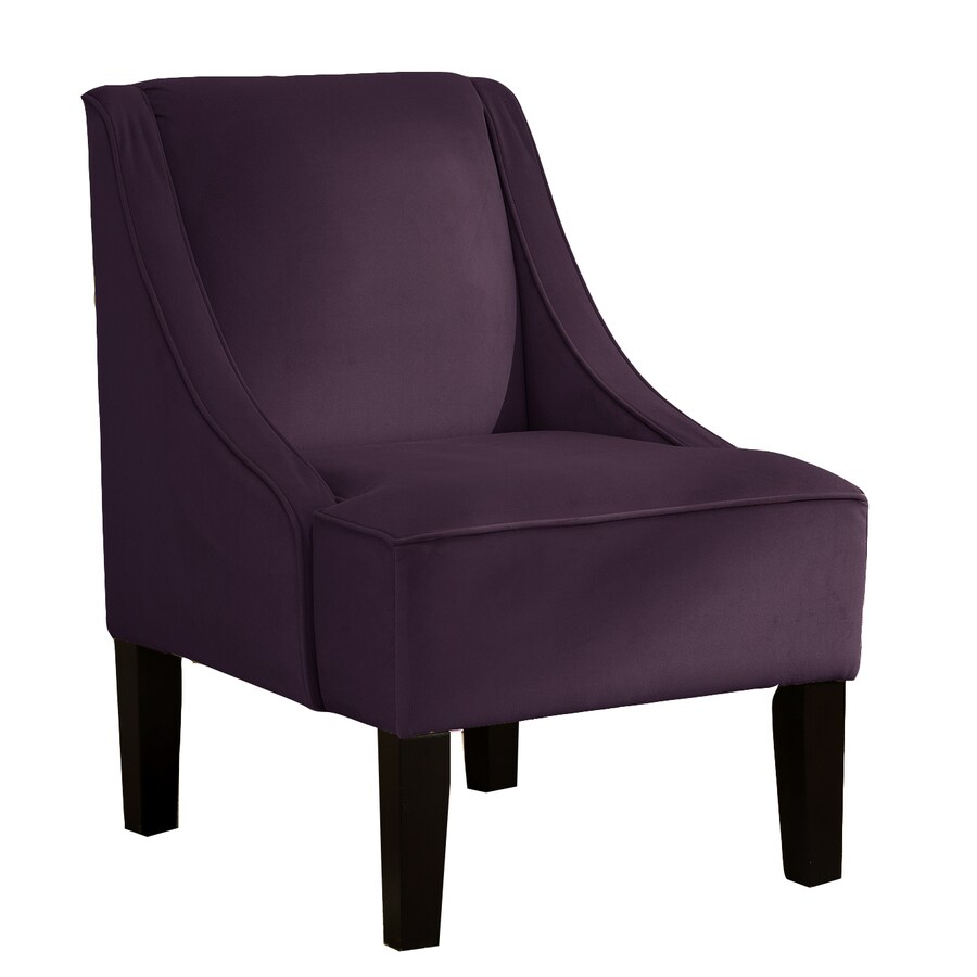 Skyline Furniture Diversey Collection Aubergine Accent Chair