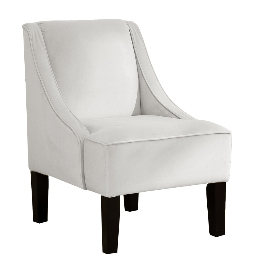 Skyline Furniture Diversey Collection White Accent Chair