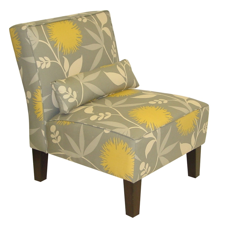Skyline Furniture Clark Collection Modern Dove Accent Chair